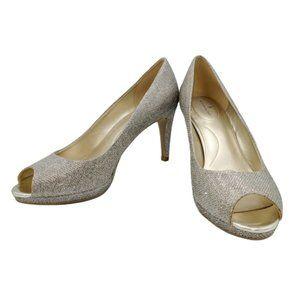Bandolino Women's Baccanti Silver Heels Pumps 10M